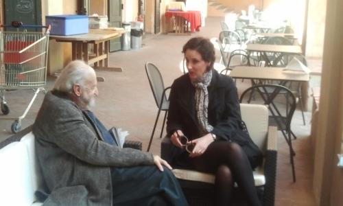 Io e Gianolio prima del forum