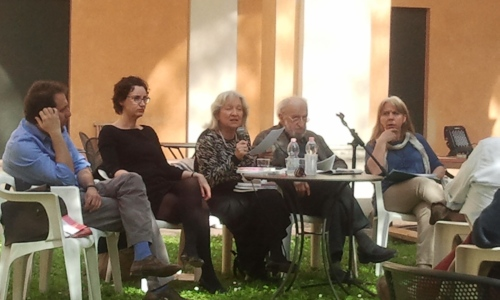 Da sinistra: Stefano Costanzi, io, Clementina Santi, Alfredo Gianolio, Maria Teresa Pantani.